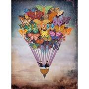 """Канва/ткань с нанесенным рисунком Конёк """"Воздушные бабочки"""""""
