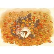 """Канва/ткань с нанесенным рисунком Конёк """"Осенняя радость"""""""