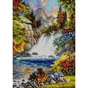 "Канва/ткань с нанесенным рисунком Конёк ""У водопада"""