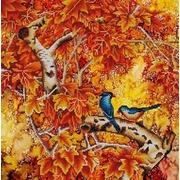 """Канва/ткань с нанесенным рисунком Конёк """"В осеннем лесу"""""""