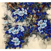 """Ткань с рисунком для вышивки бисером Конёк """"Цветочный ажур"""""""