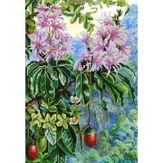 """Ткань с рисунком для вышивки бисером Конёк """"Экзотические цветы 4"""""""