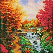 "Ткань с рисунком для вышивки бисером Конёк ""Осенний каскад"""
