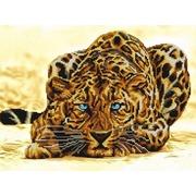 """Ткань с рисунком для вышивки бисером Конёк """"Леопард"""""""