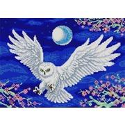 """Ткань с рисунком для вышивки бисером Конёк """"Летящая сова"""""""
