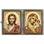 """Набор для вышивания бисером Nova sloboda """"Христос Спаситель и Пресв. Богородица Казанская"""""""
