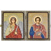 """Набор для вышивания бисером Nova sloboda """"Св. Вмч. Целитель Пантелеймон и Ангел Хранитель"""""""