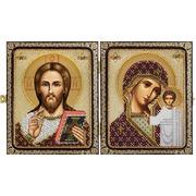 """Набор для вышивания бисером Nova sloboda """"Христос Спаситель и Пресв.Богородица Казанская"""""""