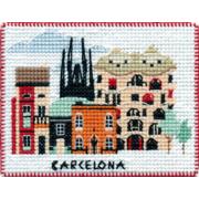 """Набор для вышивания крестом Овен """"Магнит. Столицы мира. Барселона"""""""