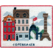 """Набор для вышивания крестом Овен """"Магнит. Столицы мира. Копенгаген"""""""