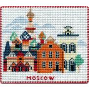 """Набор для вышивания крестом Овен """"Магнит. Столицы мира. Москва"""""""