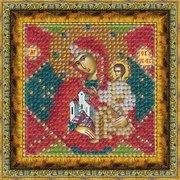 """Ткань с рисунком для вышивки бисером Вышивальная Мозаика """"Икона Неопалимая Купина"""""""