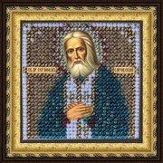 """Ткань с рисунком для вышивки бисером Вышивальная Мозаика """"Икона Св. Серафим Саровский"""""""
