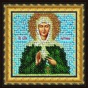 """Ткань с рисунком для вышивки бисером Вышивальная Мозаика """"Икона Св. Мученица Матрона Московская"""""""