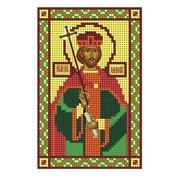 """Ткань с рисунком для вышивки бисером Nitex """"Святой Равноапостольный Царь Константин"""""""