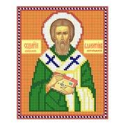 """Ткань с рисунком для вышивки бисером Nitex """"Священномученик Валентин Интерамский"""""""
