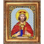 """Ткань с рисунком для вышивки бисером Благовест """"Святой Эдуард"""""""